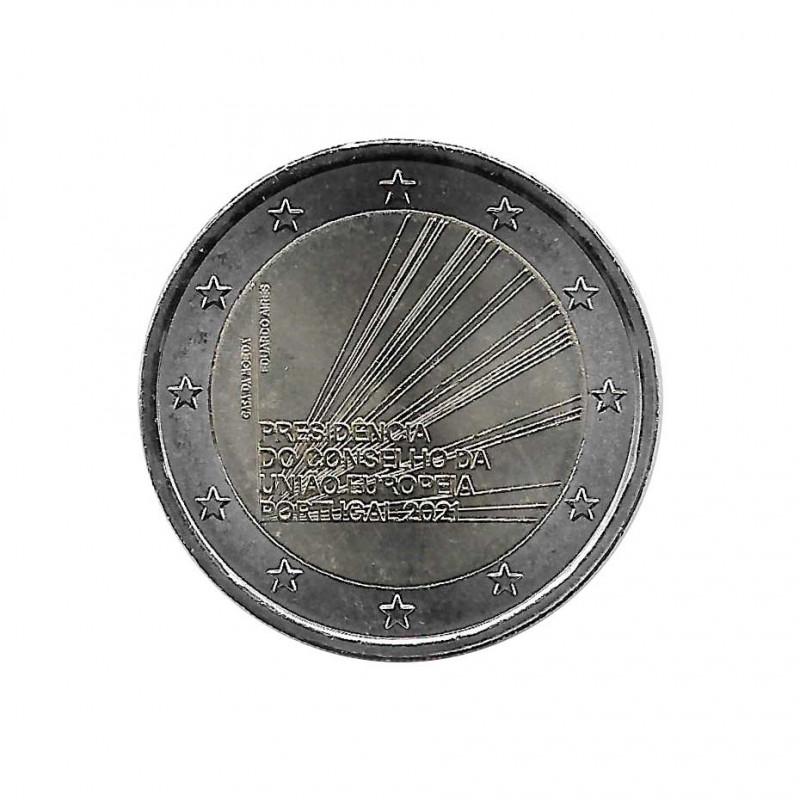 Commemorative Coin 2 Euro Portugal Presidency EU Year 2021 Uncirculated UNC | Collectible coins - Alotcoins