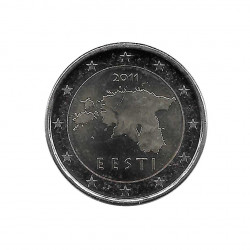2 Euro Commemorative Coin Estonia Map Year 2011 Uncirculated UNC | Collectible Coins - Alotcoins