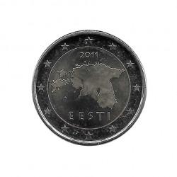 Moneda 2 Euros Conmemorativa Estonia Mapa Año 2011 Sin circular SC | Numismática España - Alotcoins