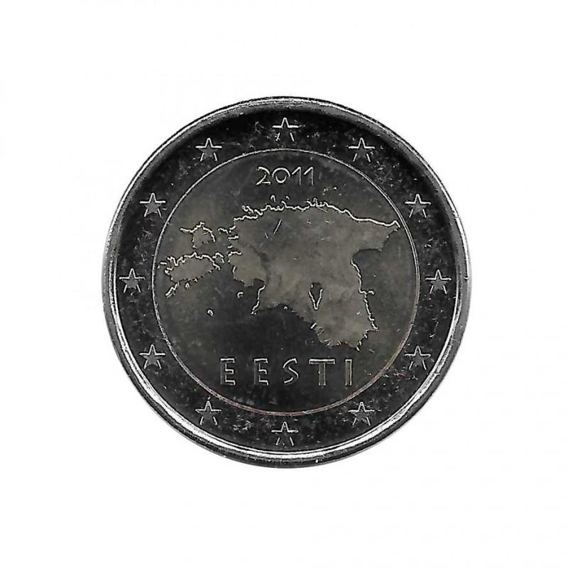 2 Euro Gedenkmünze Estland Karte von Estland Jahr 2011 Unzirkuliert UNZ | Sammlermünzen - Alotcoins