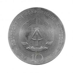 Silbermünze 10 Deutsche Mark DDR Johann Friedrich Böttger Jahr 1969 Unzirkuliert UNZ   Numismatik shop - Alotcoins
