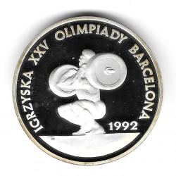 Münze Polen Jahr 1991 200.000 Złote Silber Gewichtheben Proof PP