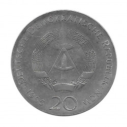 Silver Coin 20 Mark Germany GDR Gottfried Year 1966   Numismatic Shop - Alotcoins