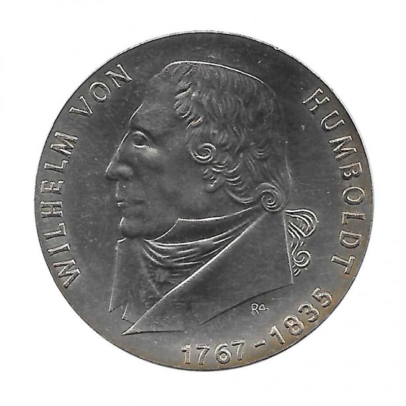 Moneda de plata 20 Marcos Alemania DDR Wilhelm de Humboldt Año 1967 | Monedas de colección - Alotcoins
