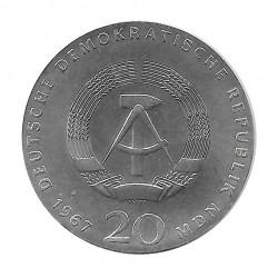 Moneda de plata 20 Marcos Alemania DDR Wilhelm de Humboldt Año 1967 | Tienda Numismática - Alotcoins