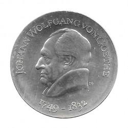 Moneda de plata 20 Marcos Alemania DDR Johann Goethe Año 1969 | Monedas de colección - Alotcoins