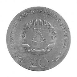 Moneda de plata 20 Marcos Alemania DDR Johann Goethe Año 1969 | Tienda Numismática - Alotcoins