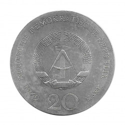Silbermünze 20 Mark Deutschland DDR Johann Goethe Jahr 1969 | Numismatik Store - Alotcoins
