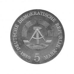 Moneda de plata 5 Marcos Alemania DDR Adolfo de Menzel Año 1980 Proof | Tienda Numismática - Alotcoins