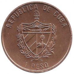 Moneda de cobre Cuba 1 Peso Fidel Castro Cuartel Moncada Año 1993 Sin circular SC | Tienda de Numismática - Alotcoins