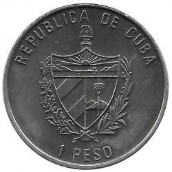 Gedenkmünze Kuba 1 Peso Papst Johannes Paul II La Habana Jahr 1998 Unzirkuliert UNZ | Numismatik Shop - Alotcoins