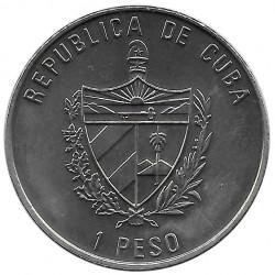 Moneda de cobre Cuba 1 Peso Papa Juan Pablo II La Habana Año 1998 Sin circular SC | Tienda de Numismática - Alotcoins