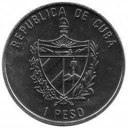 Coin Cuba 1 Peso Pope John Paul II Fidel Castro Year 1997 Uncirculated UNC   Collectible Coins - Alotcoins