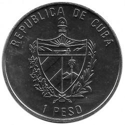Moneda de cobre Cuba 1 Peso Papa Juan Pablo II Fidel Castro Año 1997 Sin circular SC | Tienda de Numismática - Alotcoins