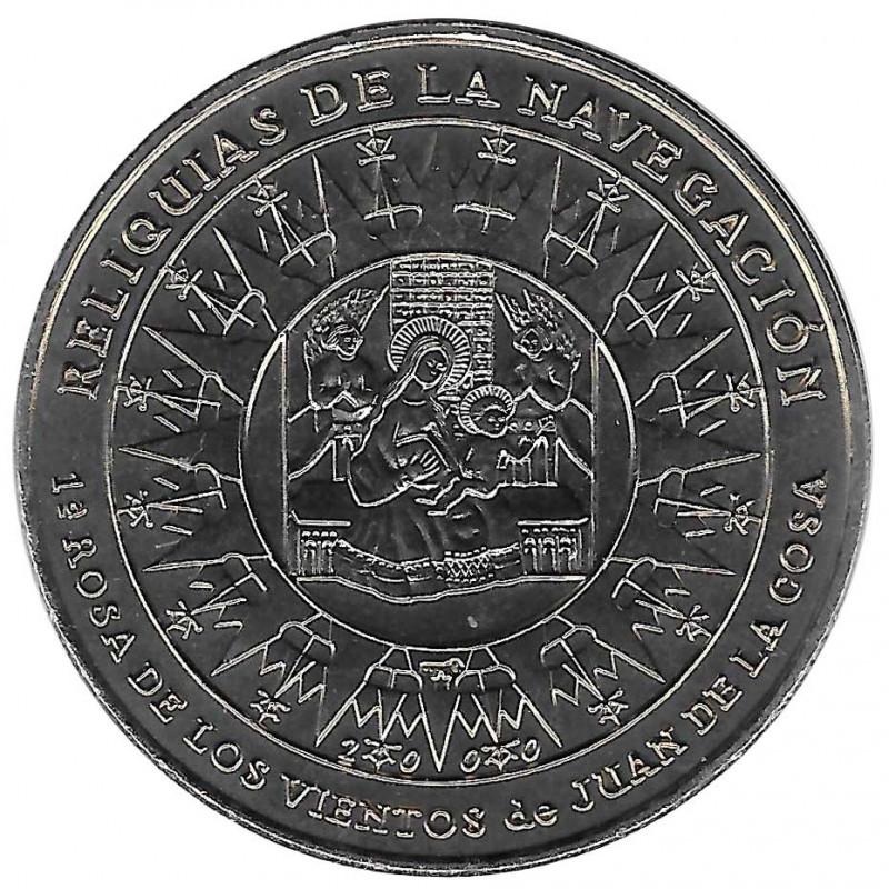 Moneda Cuba 1 Peso Rosa de los Vientos Año 2000 Sin circular SC   Monedas de colección - Alotcoins