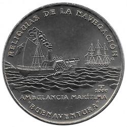 Moneda Cuba 1 Peso Ambulancia Marítima Buenaventura Año 2000 Sin circular SC | Monedas de colección - Alotcoins