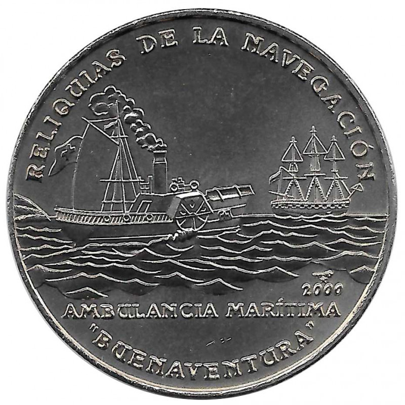 Gedenkmünze Kuba 1 Peso Maritime Ambulanz Buenaventura Jahr 2000 Unzirkuliert UNZ | Sammlermünzen - Alotcoins