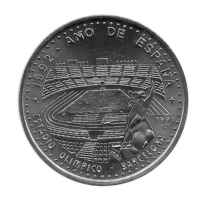Moneda Cuba 1 Peso Estadio Olímpico Barcelona Año 1991 Sin circular SC | Monedas de colección - Alotcoins