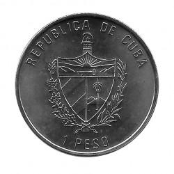 Coin Cuba 1 Peso Puerta Alcala Madrid Year 1991 Uncirculated UNC | Collectible Coins - Alotcoins