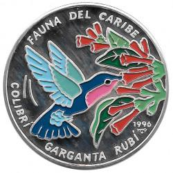 Silbermünze Kuba 10 Peso Colibri Garganta Rubi Jahr 1996 Polierte Platte PP | Sammlermünzen - Alotcoins