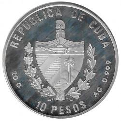 Silver Coin Cuba 10 Pesos Puerta Colibri Garganta Rubi Year 1996 Proof | Collectible Coins - Alotcoins