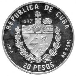 Silver Coin Cuba 20 Pesos Puerta Colibri Garganta Rubi Year 1996 Proof | Collectible Coins - Alotcoins