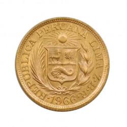 Gold Coin 1 Pound Peru Truth I Justice 7.99 g Year 1966   Numismatics Store - Alotcoins