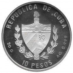 Moneda de plata Cuba 10 Pesos Pez Vaca Añil Año 1996 Proof | Tienda de Numismática - Alotcoins