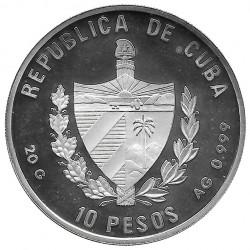 Silver Coin Cuba 10 Pesos Indigo Cowfish Year 1996 Proof   Collectible Coins - Alotcoins