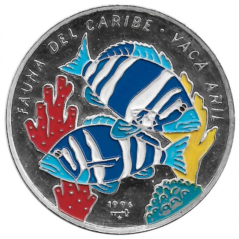 Silbermünze Kuba 20 Peso Indigo-Kuhfisch Jahr 1996 Polierte Platte PP   Sammlermünzen - Alotcoins