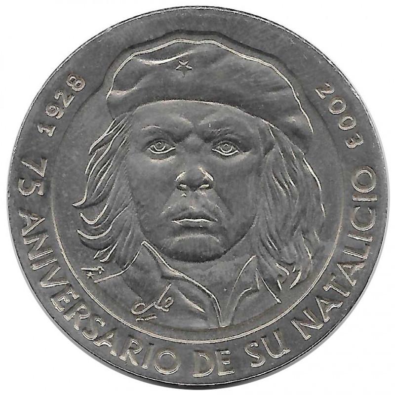 Gedenkmünze 1 Peso Kuba Che Guevara 75 Geburtstag Jahrestag Jahr 2003 Unzirkuliert UNZ | Sammlermünzen - Alotcoins