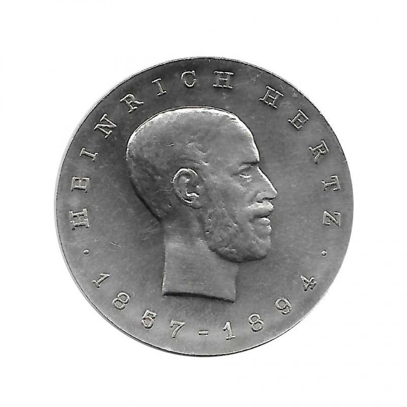 Moneda 5 Marcos Alemania DDR Heinrich Hertz Año 1969 Sin circular SC   Monedas de colección - Alotcoins