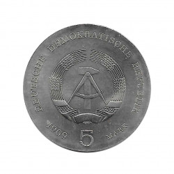 Coin 5 Mark Germany GDR Heinrich Hertz Year 1969 Uncirculated UNC   Numismatic Shop - Alotcoins