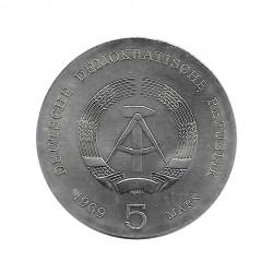 Moneda 5 Marcos Alemania DDR Heinrich Hertz Año 1969 Sin circular SC   Tienda Numismática - Alotcoins