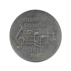 Gedenkmünze 5 Deutsche Mark DDR Johannes Brahms Jahr 1972 | Gedenkmünzen - Alotcoins