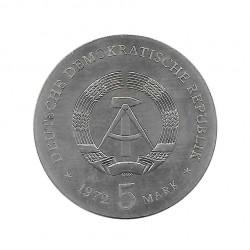 Moneda 5 Marcos Alemanes DDR Johannes Brahms Año 1972   Tienda Numismática - Alotcoins