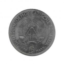 Coin 5 German Marks GDR Philipp Reis Year 1974 | Numismatic Store - Alotcoins