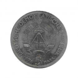 Moneda 5 Marcos Alemanes DDR Philipp Reis Año 1974   Tienda Numismática - Alotcoins