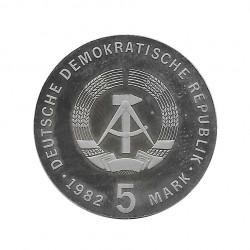 Moneda 5 Marcos Alemanes DDR Friedrich Froebel Año 1982 Proof   Tienda Numismática - Alotcoins