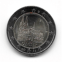 "Moneda 2 Euros Alemania Catedral Colonia ""A"" Año 2011"