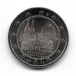 """Münze 2 Euros Deutschland Kölner Dom """"A"""" Jahr 2011"""