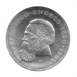 Moneda de plata 20 Marcos Alemania Democrática Friedrich Engels Año 1970 | Monedas de colección - Alotcoins