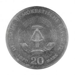 Silbermünze 20 Mark Deutsche Demokratische Republik DDR Friedrich Engels Jahr 1970   Gedenkmünzen - Alotcoins