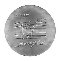 Moneda de plata 20 Marcos Alemania Democrática Johann Sebastian Bach Año 1975 | Monedas de colección - Alotcoins