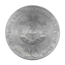 Moneda de plata 20 Marcos Alemania Democrática Johann Sebastian Bach Año 1975 | Tienda Numismática - Alotcoins