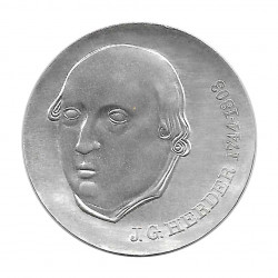 Silver Coin 20 Mark Democratic Germany Johann Gottfried Herder Year 1978 | Numismatic shop - Alotcoins