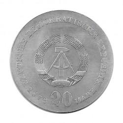 Moneda de plata 20 Marcos Alemania Democrática Johann Gottfried Herder Año 1978 | Tienda Numismática - Alotcoins