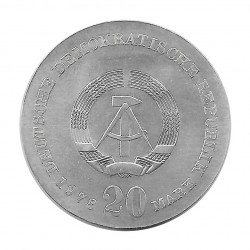 Silver Coin 20 Mark Democratic Germany Johann Gottfried Herder Year 1978 | Collectible Coins - Alotcoins