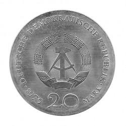 Moneda de plata 20 Marcos Alemania Democrática Gotthold Ephraim Lessing Año 1979 | Tienda Numismática - Alotcoins