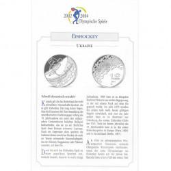 Silbermünze 10 Hryven Ukraine Olympischen Winterspiele Eishockey Jahr 2001 Polierte Platte PP   Silbermünzen - Alotcoins
